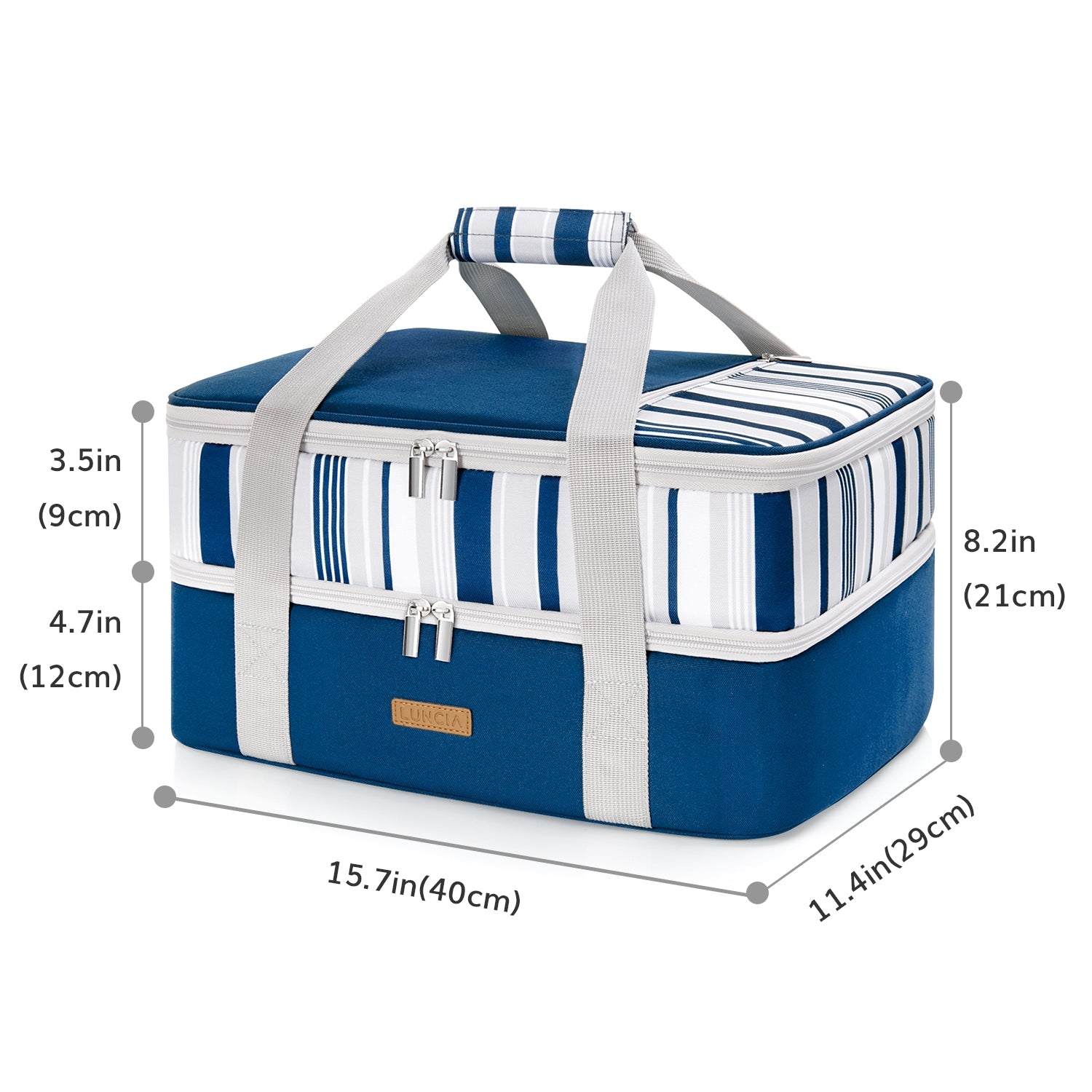 Casserole Carrier Double Decker, Blue