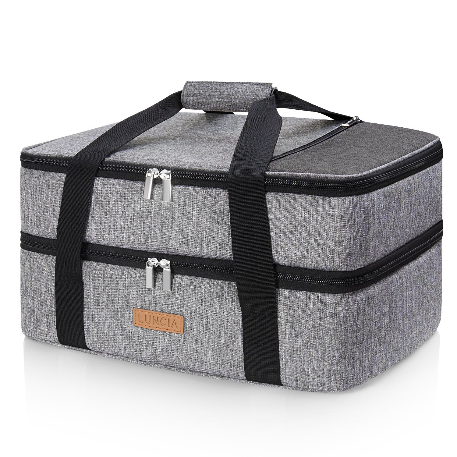 Casserole Carrier Double Decker, Grey