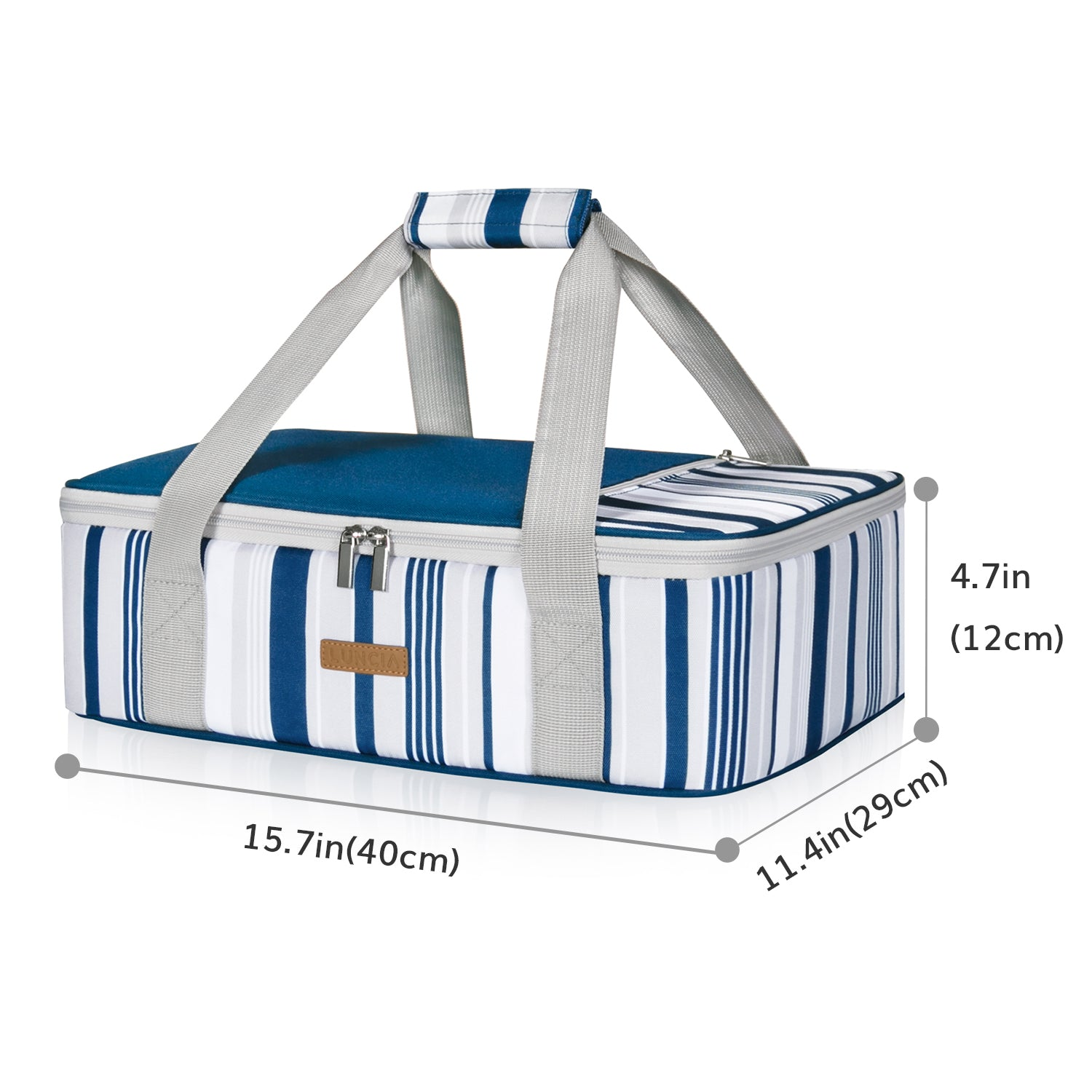 Casserole Carrier Single Decker, Blue