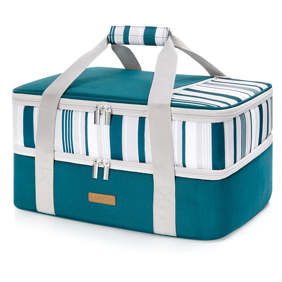 Casserole Carrier Double Decker, Green