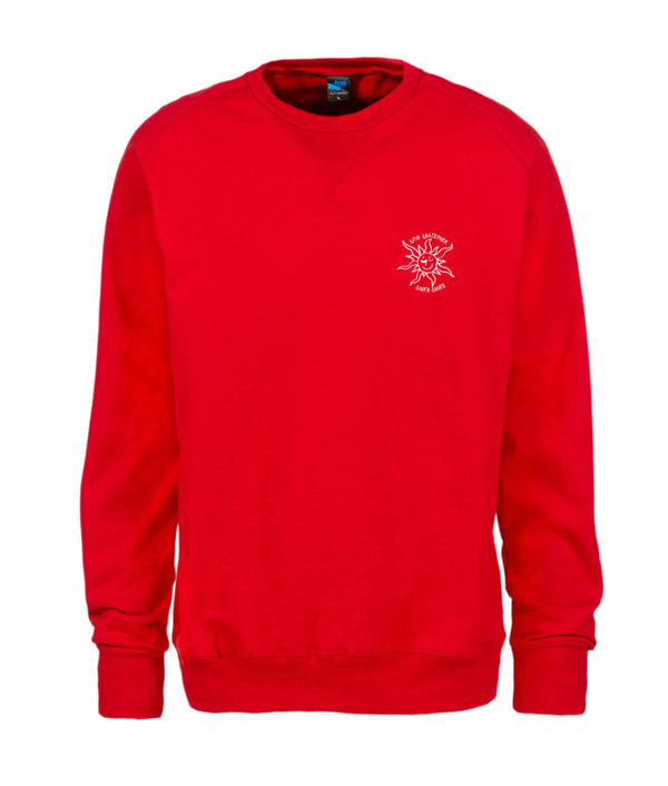 Spin X Gonz - Red Crewneck Heart Logo