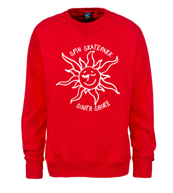 Spin X Gonz - Red Crewneck Big Front Logo