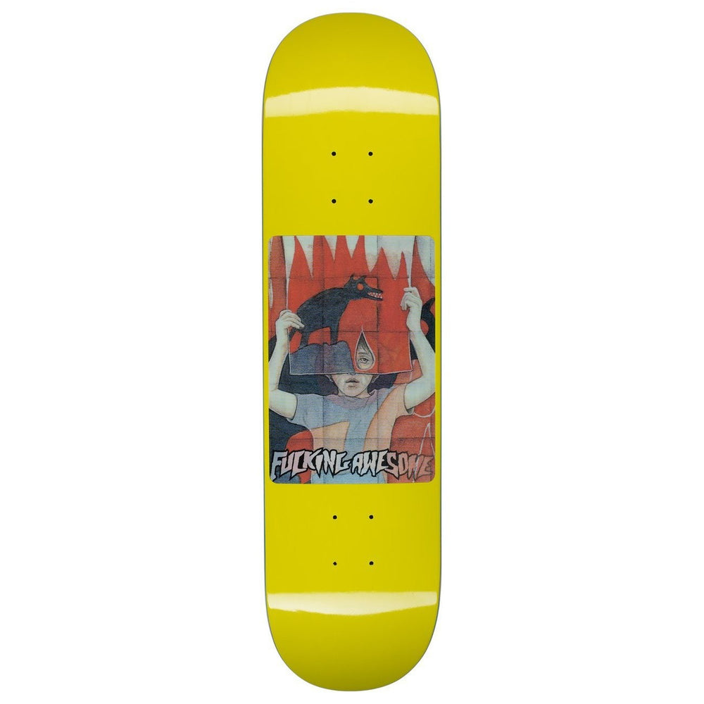 Fucking Awesome Tiger Holographic - Yellow - Deck