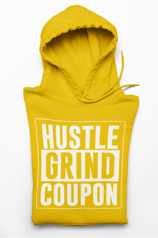 Sweatshirt White and Musterd Hustle Grind Coupon