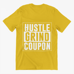 Mustard and White Hustle Grind Coupon Shirt