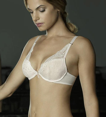 The Little Bra Company IVORY Lucia Level 3 Push-Up Plunge Bra, US 36B, UK 36B
