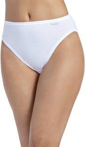 Jockey WHITE Plus Size Elance French Cut Panty 3-Pack, US 6