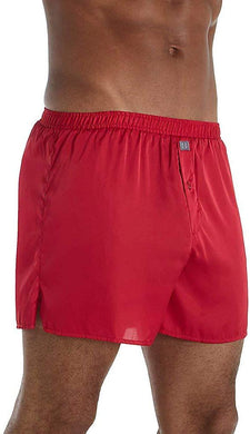 Hartman ROYAL RED Essentials Classic Sueded Charmeuse Boxer, US Medium