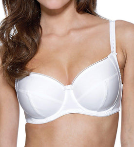 Charnos WHITE Superfit Everyday Underwire Full Cup Bra, US 36H - racks-op