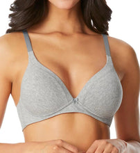 Load image into Gallery viewer, WARNER'S Light Grey Heather Invisible Bliss Cotton Bra, US 36B, UK 36B, NWOT