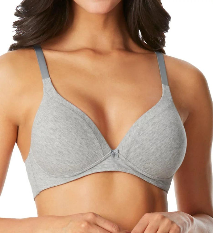 WARNER'S Light Grey Heather Invisible Bliss Cotton Bra, US 36B, UK 36B, NWOT