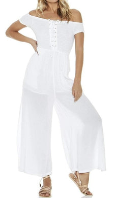 L*Space WHITE Sao Paulo Romper Cover-Up, US Large