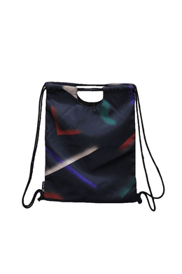 Mansi Shah Black/Multi Drawstring Bag NWOT