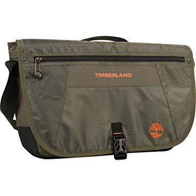 Timberland Burnt Olive/ Burnt Orange Messenger Backpack Briefcase Travel Bag, One Size