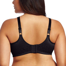 Load image into Gallery viewer, Bali BLACK Double Support Minimizer Wire-Free Bra, US 42DD - racks-op