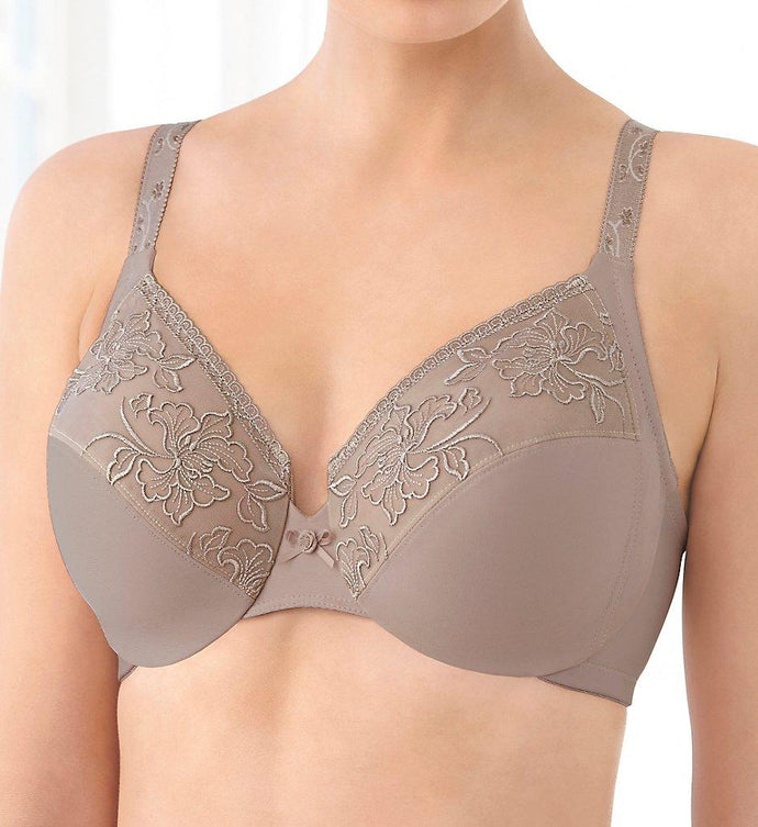 GLAMORISE Taupe Embroidered Wonderwire Bra, US 44D, NWOT - racks-op