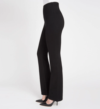 Load image into Gallery viewer, LYSSE Black Ponte Knit Seam Detail Wide Leg Legging, US Medium, NWOT