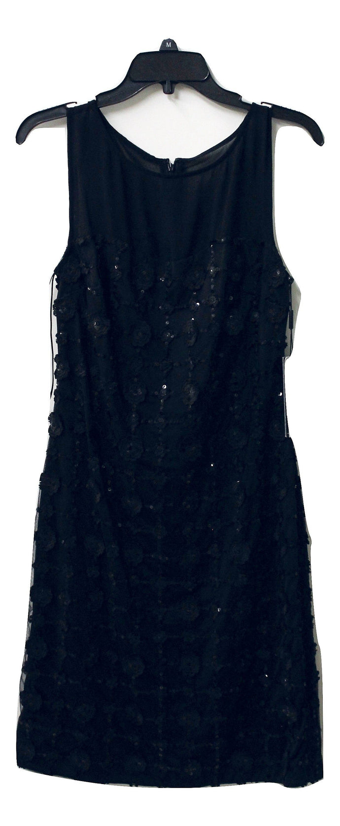 Karl Lagerfeld Women's Black Floral Sequin Dress Size 2