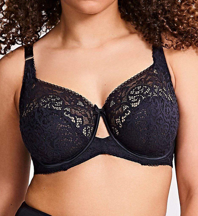 Sculptresse BLACK by Panache Estel Full Cup Bra, US 42H - racks-op