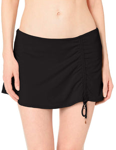 Anne Cole Signature BLACK Skirted Bikini Swim Bottom, US Large - racks-op
