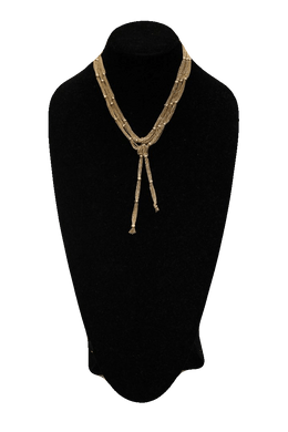 Free People Gold Multi Strand Matinee Necklace