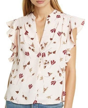 Load image into Gallery viewer, Joie LAUREL Ashtina Floral Crepe Cap Sleeve V-Neck Blouse, US X-Large