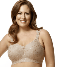 Load image into Gallery viewer, ELILA Nude Jacquard Softcup with Cushioned Straps Bra, US 42L, UK 42HH, NWOT