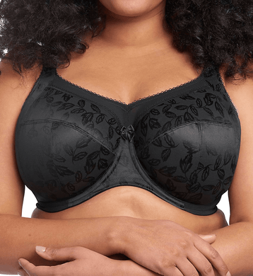 Goddess BLACK Petra Maximum Coverage Bra, US 46J, UK 46GG