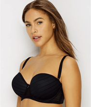 Load image into Gallery viewer, FREYA Black Cameo Underwire Deco Strapless Contour Bra, US 28E, UK 28DD, NWOT