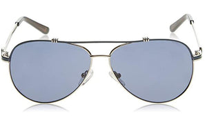 GUESS Black Men's Enamel Aviator Sunglasses