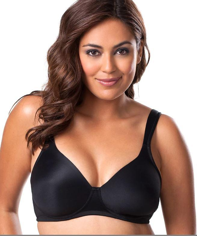 LEADING LADY SMOOTH CONTOUR BRA, Black, 46A, NWOT - racks-op