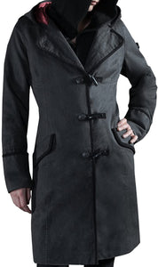 Musterbrand GRAY Assassin's Creed Syndicate Evie Hooded Coat, US Small