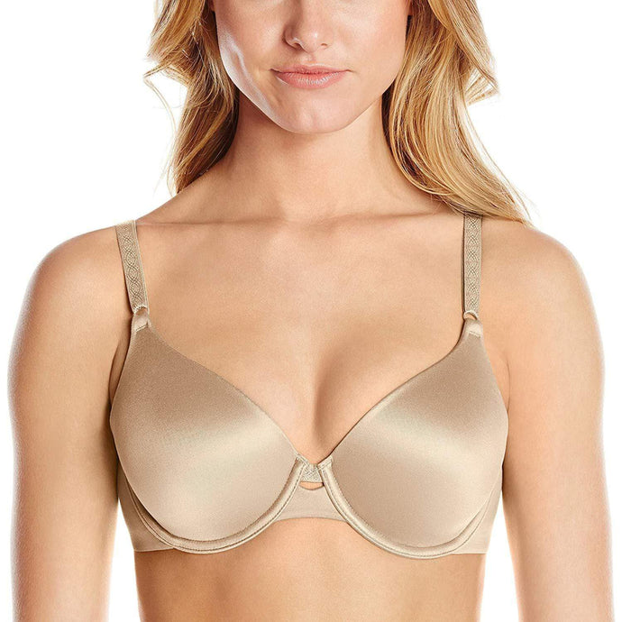 Warner's TOASTED ALMOND Cloud 9 Underwire Contour Bra, US 34D - racks-op