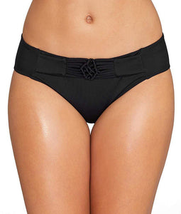 FREYA Black Macrame Bikini Swim Bottom, US Medium, NWOT - racks-op