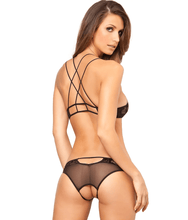 Load image into Gallery viewer, RENE ROFE Black Lace Wireless Bra & Panty Set, US Medium/Large, NWOT - racks-op