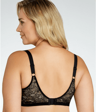 Load image into Gallery viewer, Goddess BLACK Yvette Banded Underwire Back Smoothing Bra, US 46H, UK 46FF