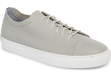 Ted Baker LIGHT GREY LEATHER Nowull Brogued Sneaker, US 9.5 M