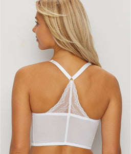 GOSSARD White Superboost Lace Deep V Underwire Bralette, US 38G, UK 38F, NWOT
