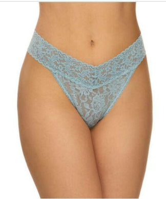 Hanky Panky Signature Lace Original Rise Thong (Duck Egg Blue, One Size) 4811