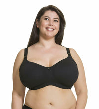 Load image into Gallery viewer, CAKE MATERNITY Black Croissant Seamless Nursing Bra, US 36G, UK 36F, NWOT
