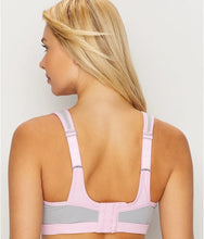 Load image into Gallery viewer, Glamorise PINK/GRAY Underwire High Impact Sports Bra, US 40C, UK 40C