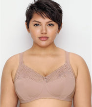 Load image into Gallery viewer, Glamorise TAUPE Comfort Lift Full Figure Support Wire Free Bra, US 42H, UK 42FF