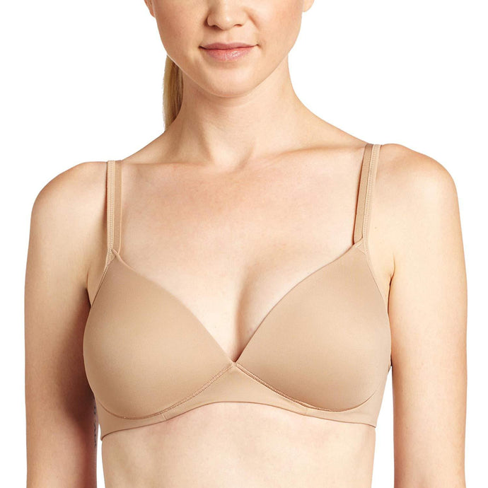Warner's TOASTED ALMOND Elements of Bliss Wirefree Lift Bra, US 36B - racks-op