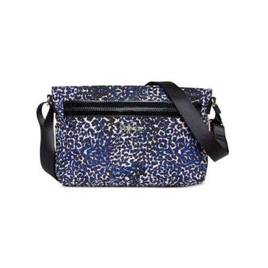 Kipling Daring Adventure Animal Print Combo Blue Cheetah Crossbody Bag