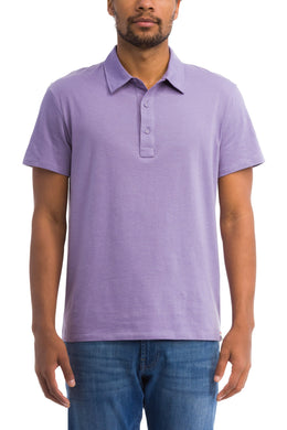 Grayers LAVENDER Drake Micro Stripe Lux Polo, US 2X-Large