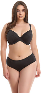 Elomi BLACK Essentials Underwire Plunge Bikini Swim Top, US 42DD, UK 42DD