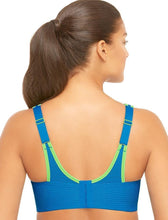 Load image into Gallery viewer, GLAMORISE Blue/Green Double-Layer Custom-Control Sport Bra, US 36G, UK 36F, NWOT