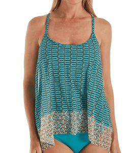 Coco Reef MULTI Zanzibar Current Mesh Layer Tankini Swim Top, US 38DD, UK 38DD