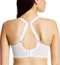 Load image into Gallery viewer, Elomi WHITE Energise Underwire Sports with J Hook Bra, US 44DD, UK 44DD