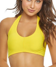 Load image into Gallery viewer, PilyQ YELLOW Marigold One Shoulder Tie Bikini Swim Top, US Large